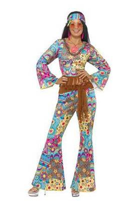 HIPPI-ASU FLOWER POWER - Karnevaalikauppa Aprilli verkkokauppa 7b68335622