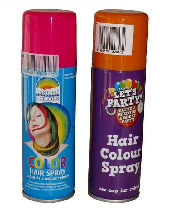suihkutettava hiusväri