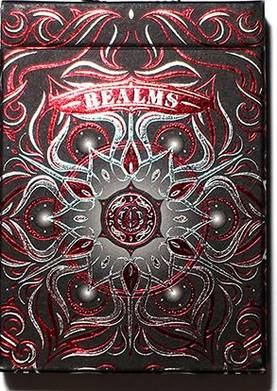 REALMS RED PLAYING CARDS - Tavalliset - 59465 - 1